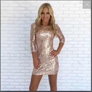 Dainty Hooligan rose gold mini dress